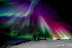Aurora Borealis - Chapel in the night